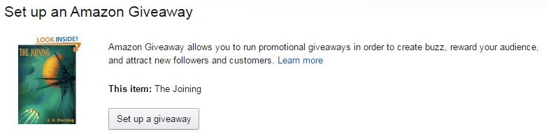 Amazon Giveaway example